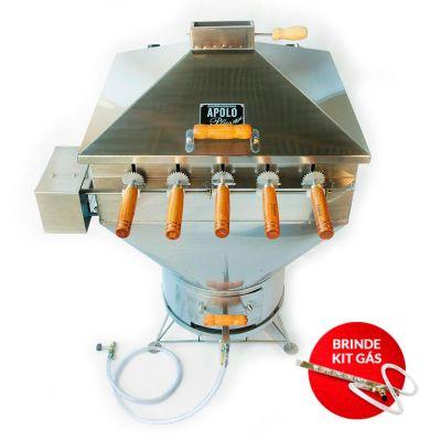 Apolo Plus Mini 5 Espetos Giratórios Inox AISI 304 - Weber